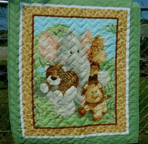 jungle friends baby quilt